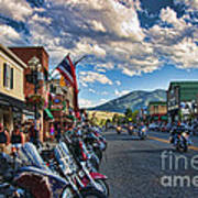 Red  Lodge Motorcycle Rally Art Print