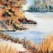 Red Maple Lake Art Print