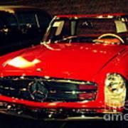 Red Mercedes Sl Art Print