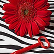 Red Mum And Red Key Art Print