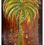 Red Palm Art Print