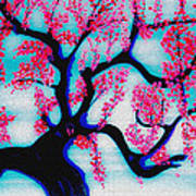 Red Plum Chinese Style Art Print