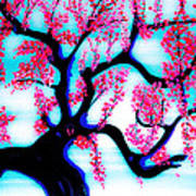 Red Plum Oriental Influence Art Print