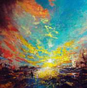 Red Rain Art Print by Neil McBride