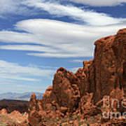 Red Rock Cliffs Valley Of Fire Nevada Art Print