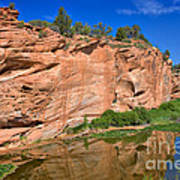 Red Rock Formation In The Kaibab Plateau In Grand Canyon National Park Art Print