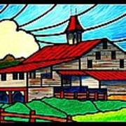 Red Roof Barn On Osceola Springs Road Art Print