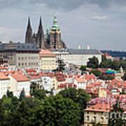 Red Rooftops Of Prague Art Print by Linda Woods