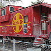 Red Sante Fe Caboose Train . 7d10325 Art Print