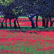 Red Shock Art Print