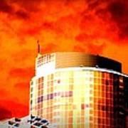 Red Sky Vancouver Art Print