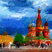 Red Square Moscow Art Print