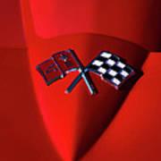 Red Stingray Badge Art Print
