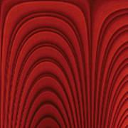 Red Textured Background Art Print