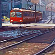 Red Trolley Art Print