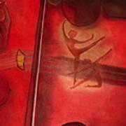 Red Violin Art Print