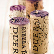 Red Wine Corks From Ribera Del Duero Art Print