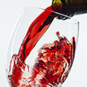 Red Wine Pour Art Print
