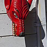 Red Wolf Mask Art Print