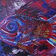 Redribfish Art Print