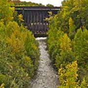 Redridge Steel Dam 7844 Art Print by Michael Peychich