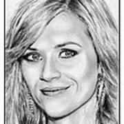 Reese Witherspoon In 2010 Art Print