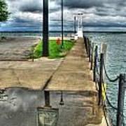 Reflecting At The Erie Basin Marina Art Print