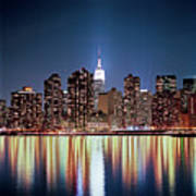 Reflection Of Skyline Art Print by Shi Xuan Huang Photography