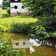 Reflection Of The Barn Art Print