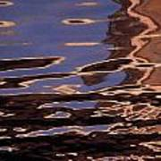 Reflection Patterns In The Waves Print by Paul Damien