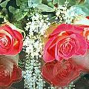 Reflection Red Roses Art Print