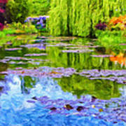 Reflections At Giverny Art Print