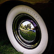 Reflections In A Hubcap Art Print