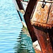 Reflections Of A Rust Bucket Art Print