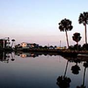 Reflections Of Keaton Beach Marina Art Print