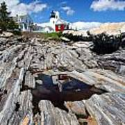 Reflections Of Pemaquid Art Print by Brenda Giasson