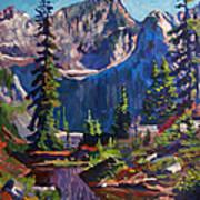 Reflections On A Pond Art Print by David Lloyd Glover