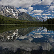 Reflections On Mount Moran Art Print