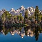 Reflections On Schwabacher Landing Art Print