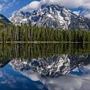 Reflections On String Lake Art Print