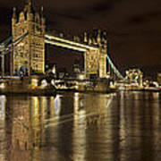 Reflections On The Thames Art Print