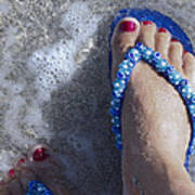 Refreshing Foot Art Print