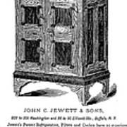 Refrigerator, 1876 Art Print by Granger
