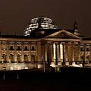 Reichstag At Night Art Print