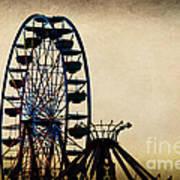 Remember When Ferris Wheel Art Print
