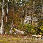 Remote Vermont Cabin Art Print