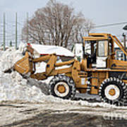 Removing Snow Art Print by Ted Kinsman