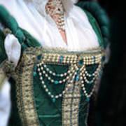 Renaissance Lady In Green Art Print