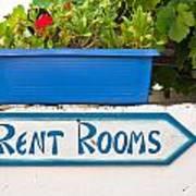 Rent Rooms Sign Art Print