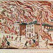 Representation Of The Terrible Fire Of New York Art Print
